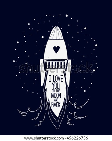 I Love You To The Moon And Back With Heart Stars
