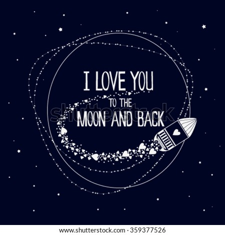 I Love You To The Moon And Back With Hearts Stars