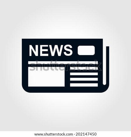 Icon of news. Flat design.  - stock vector