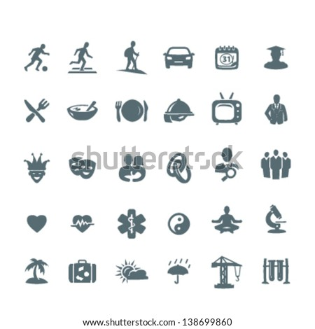 30 icon set news category 1 - stock vector