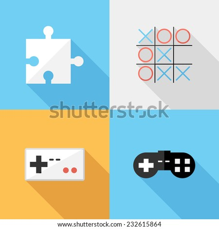 icons. Flat design style modern vector illustration. Isolated on stylish color background. Flat long shadow icon. Elements in flat design.
