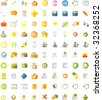 100 Icons set for web - stock vector