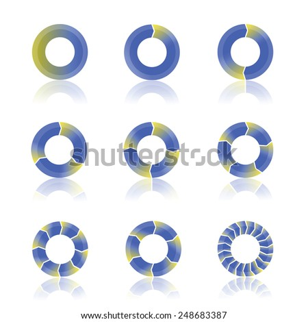 illustration  with abstract cycling diagram on white background