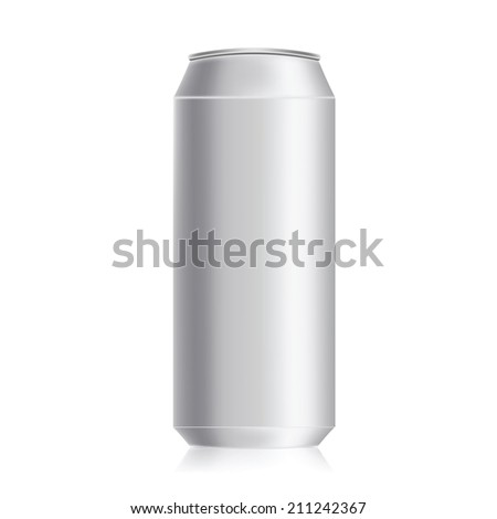 illustration with drink can on a white background