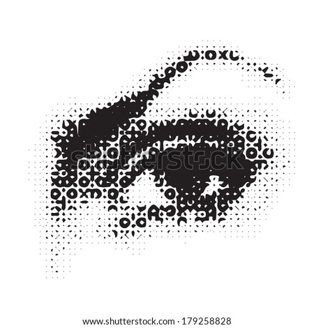 illustration with female eye for your design - stock vector