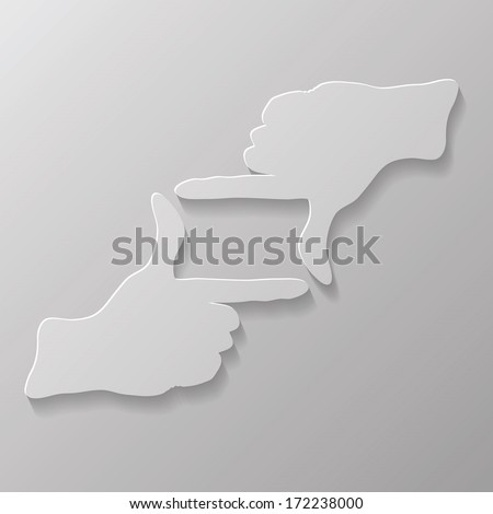 illustration with  two hands for your design - stock vector