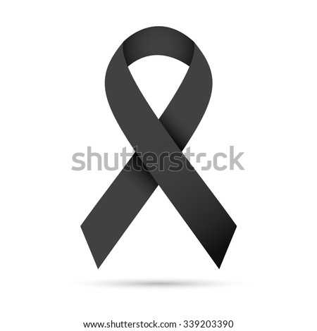 Ilustration of black ribbon,Vector eps10 - stock vector