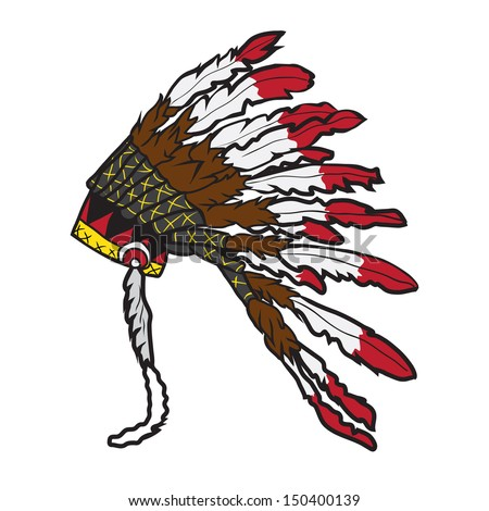 indian chief headdress vector stock photo photo vector rh shutterstock com  indian chief logo 1903