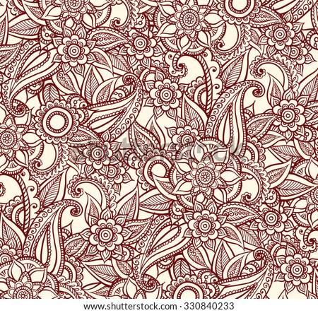 Luxury Oriental Design. Vector Pattern In Mendi Style.