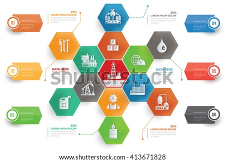 Industry concept info graphic design,vector - stock vector