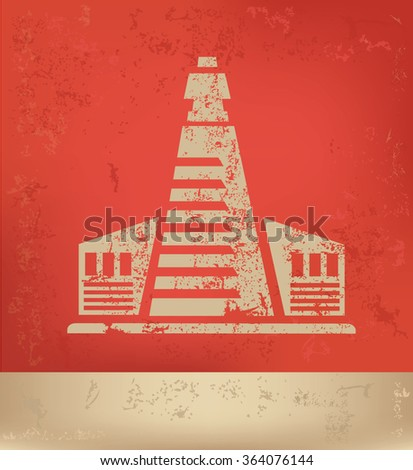 Industry design on red background,grunge vector