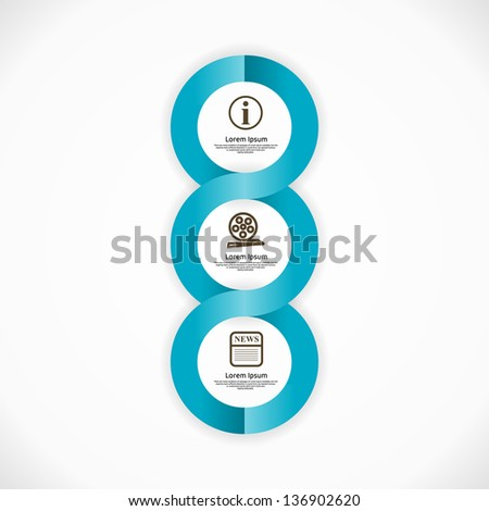 Info graphic Design. Clean Abstract Business Background. Modern Icons. - stock vector