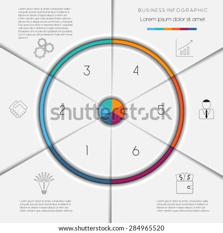 Infographic business process workflow template text stock vector infographic business process or workflow template with text areas on 6 positions wajeb Image collections