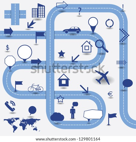 Blank Road Map Photos RoyaltyFree Images Vectors – Blank Road Map