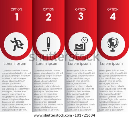Infographics number options template  - stock vector