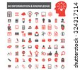 40 information knowledge icons - stock vector