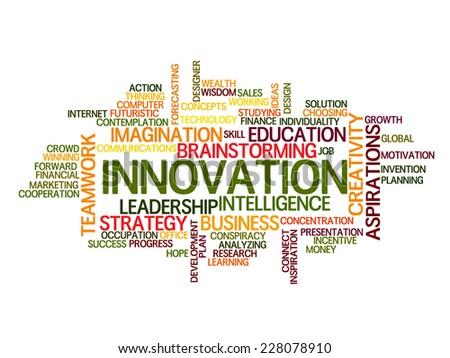 innovation idea Word Cloud Concept - stock vector