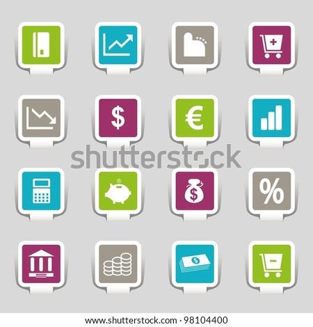 16 Internet Icons Money Part 3 - stock vector