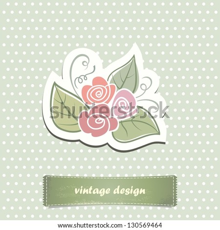 Invitation card. Vintage label for design. - stock vector