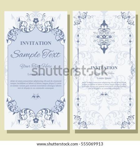 Invitation card floral pattern on background stock vector invitation card with floral pattern on background flyer illustration concept contemporary vintage art stopboris Images