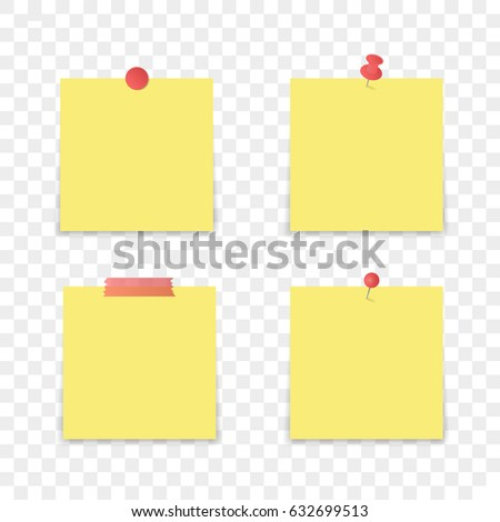 isolated sticky note on transparent background stock vector royalty