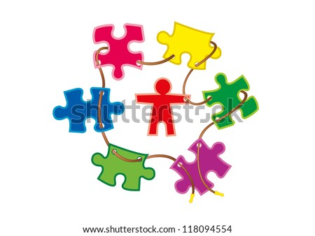 jigsaw puzzle - stock vector