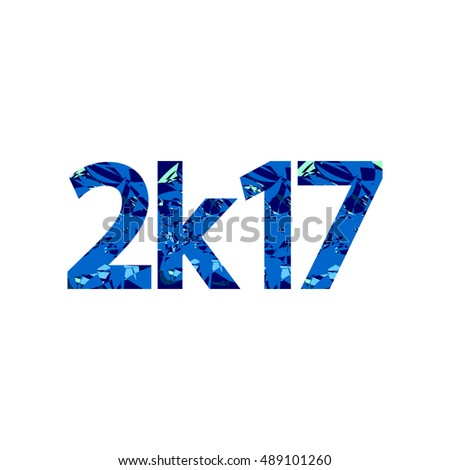 2k17, 2017, design template, vector illustration