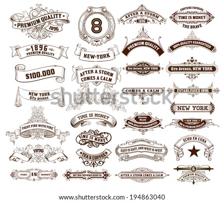 29 Labels and banners. Vector - stock vector