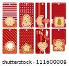 labels with gingerbread, vector illustration - stock vector