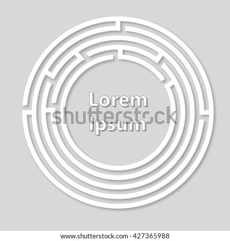 Labyrinth vector logo. Paper labyrinth. Vector illustration. - stock vector