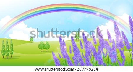 Lavender herb background