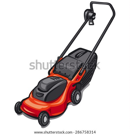 lawn mower vector - photo #29