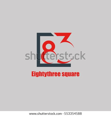83 letter logo design vector element