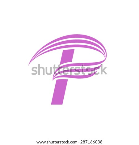 letter P logo design template. - stock vector