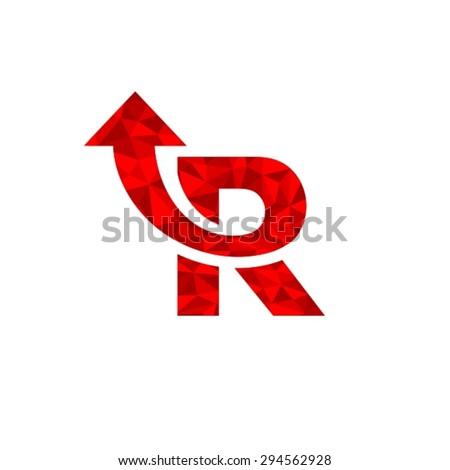 Letter R Logo - stock vector
