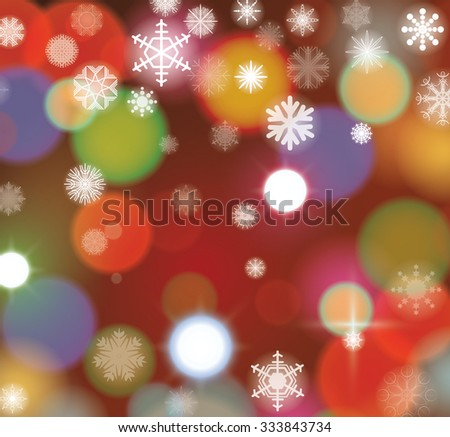 Lights Christmas background, vector. - stock vector