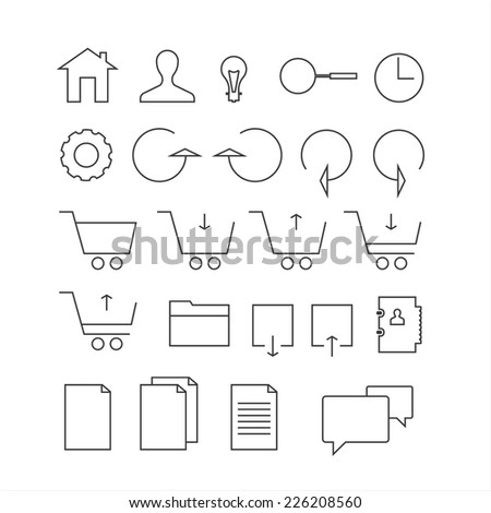 line icon set. Trendy thin and simple icons