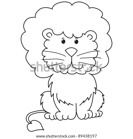 Cute Baby Lion Coloring Pages Sketch