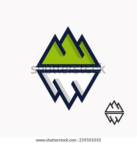 Logo of the mountain and iceberg  - stock vector