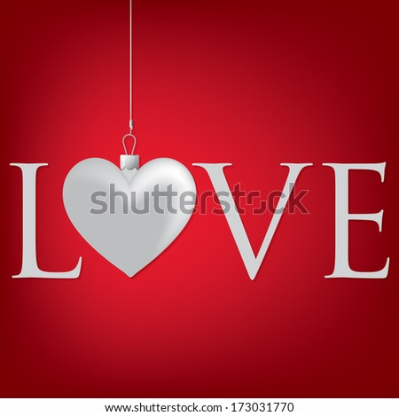 """""""Love"""" heart Valentine's Day card in vector format. - stock vector"""