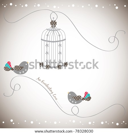 2 lovely bird in love collection - stock vector