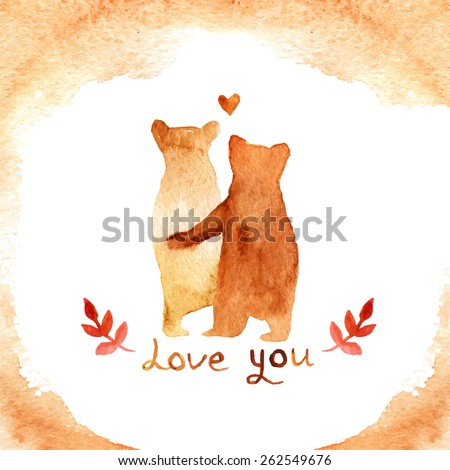 2 lovely brown bears love frame stock vector 262549676 shutterstock