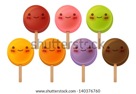 Lovely Lollipop Collection - Vector FIle EPS10 - stock vector