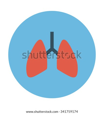 Lungs Colored Vector Icon