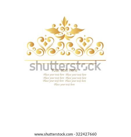 Luxury elegant frame ornament line logo design vector illustration. - stock vector