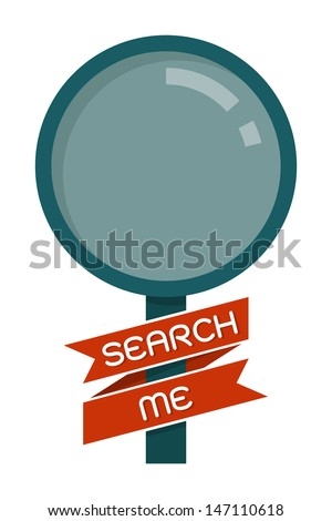 magnifying glass, search icon vector - stock vector