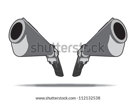 44 magnum 3d - stock vector