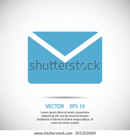 mail icon. One of set web icons - stock vector