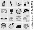 16 mail related icons/ silhouettes. - stock vector