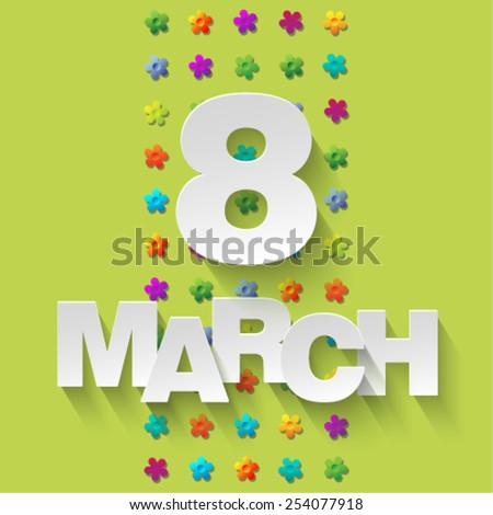 8 March - stock vector